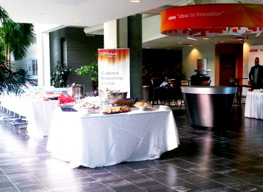 Ciena networking lounge