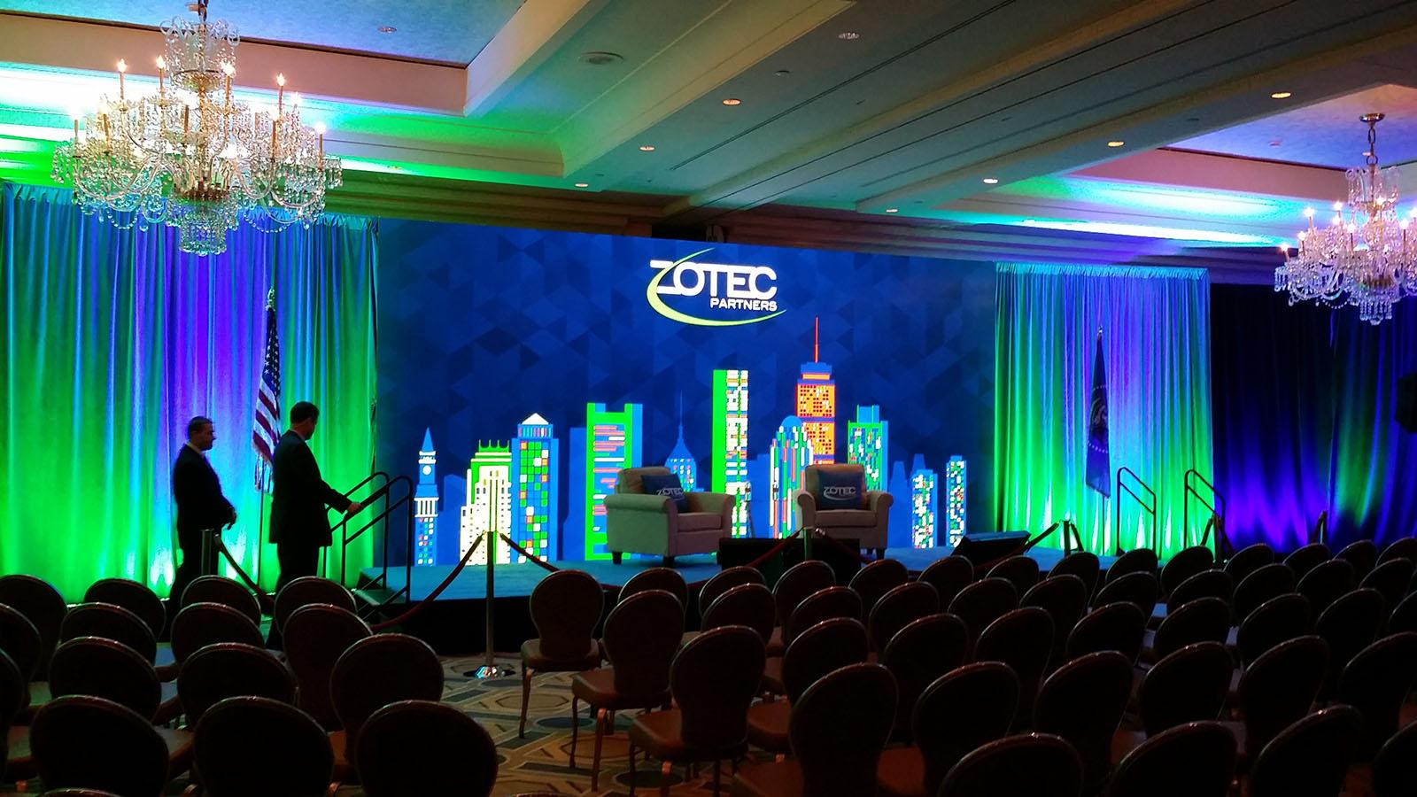 Zotech Partners Social Event Screen