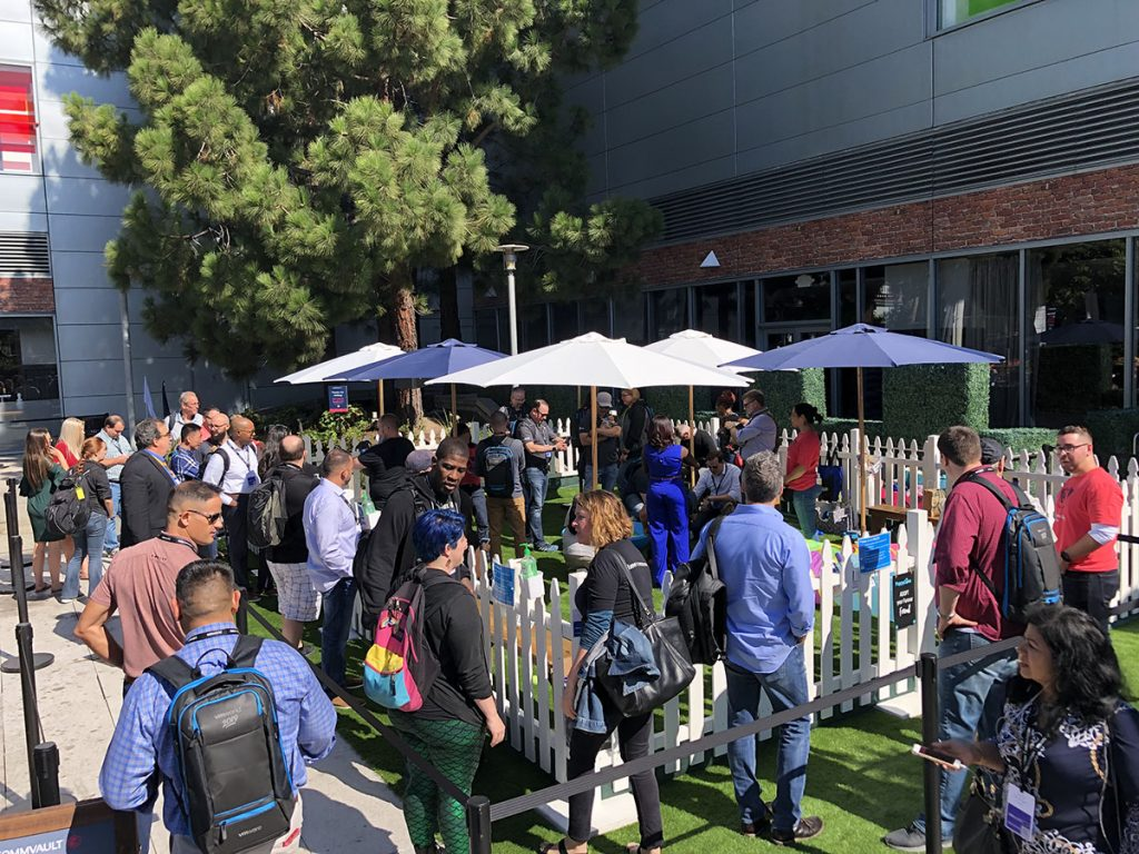 Attendees loved Commvault's Data Therapy Dog Park at VMWorld